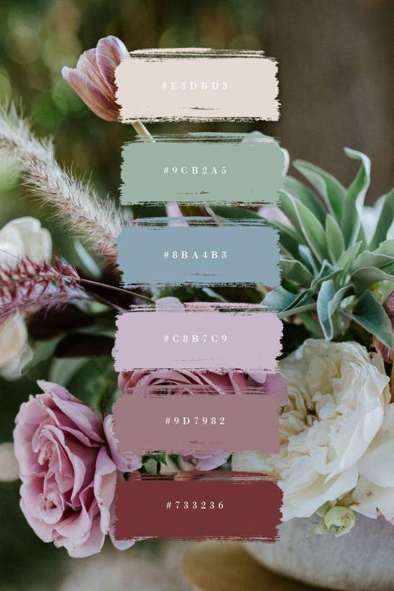 Como criar a paleta de cores perfeita para o seu casamento